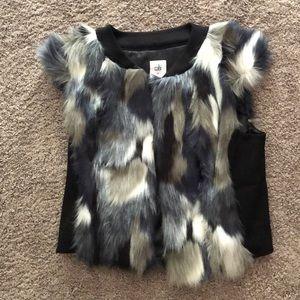 CAbi brand faux fur vest